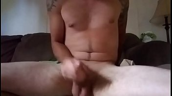 Homemade hard stroking