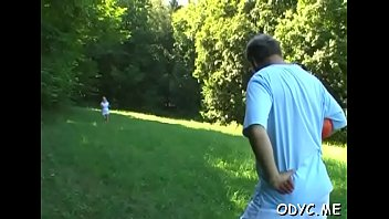 Old and youthful do a scene with wild vehement fucking