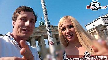 EroCom Date - German blonde at real Blinddate casting public pick up and fuck bareback