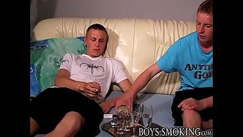 Homosexual cigar smoker butt fucks his friend from behind