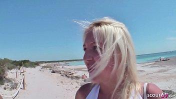 German Teen - 18 Jahre alte Urlauberin am Strand von Mallorca gefickt