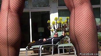Blonde Milf poolgirl fucked by partyboy