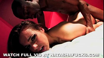 Natasha's Rough Mattress Sex Interracial