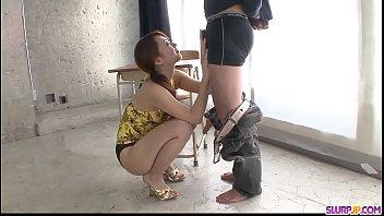Kazumi Nanase sucks dick with passion until the last drop - More at Slurpjp.com