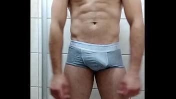 Underwear gay boys - Gostoso safado batendo até gozar - gay cumshot