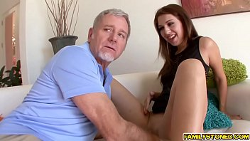 Step dad feeds horny Ariana Grand his big cock