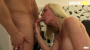 AMATEUR EURO - Hot German GILF Hiltrude Seduce And Fucks With Her Young Muscle Guest