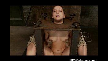 A sub girl bondaged, throatfucked and a clit tortured Vorschaubild