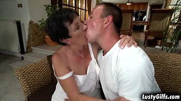 Lusty granny Hettie makes out with this hot stud Rob that makes her mature pussy soaking wet and totally satisfied. thumbnail