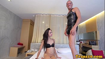 Slender ladyboy assfucked deeply after bj