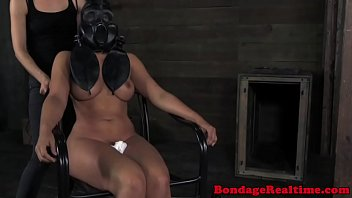 Vintage barber supplies Bondage sub penny barber gets masked