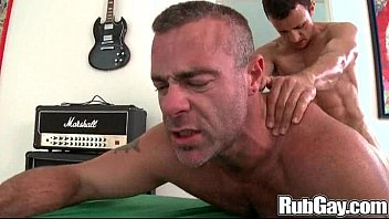 Deep tissue anal massage - Rubgay the little guy can dish it