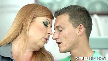 Redhead Mature Loves Cock! 6 min