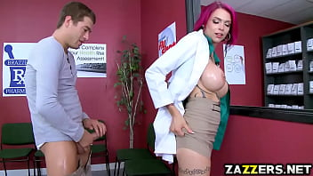 Xander blowjob Anna bell rides xander corvus on top over the counter