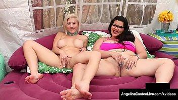 Thick Lesbians Angelina Castro & Cristi Ann Pussy Fuck & Cum