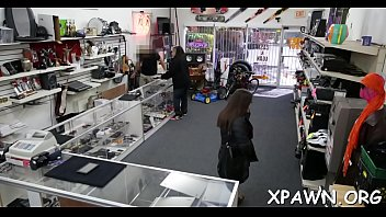Naked girl video store - Intensive bimbo dilettante is in the store, getting rammed