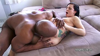 Petite cutie Taylor Lux gets stuffed with a black cock