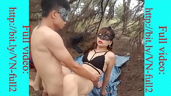 Young Asian couple sex in public -Full: