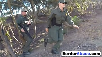 Two dick 1 chick Two young sluts fuck in hot threesome with border patrol agent0p-1
