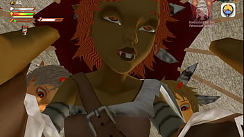 Femdom Game Captured by Goblins