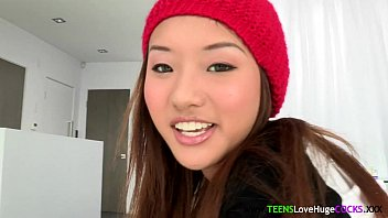 Petite asian cocklovers pretty face cumshot