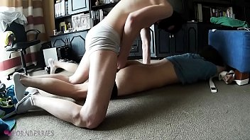 Twink home alone got tied and dominated by a masked intruder