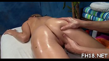 Sexy 18 year old girl gets fucked hard from behind by her massage therapist