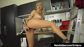Smoking Hot Natalia Starr Bangs Her Bush In Garage With Tool