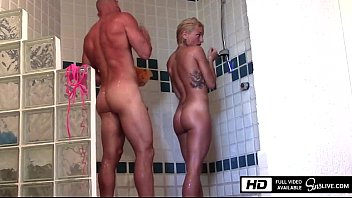 Kissa Sins gets fucked by Johnny Sins in the Shower in Mexico porn image
