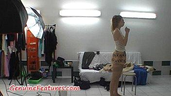Hot teens next door Super slim blonde in hot backstage video