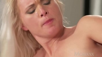 MOM Blonde MILF in stockings and lingerie deepthroats and fucks boyfriend thumbnail