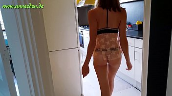german bitch girls tight twat gets penetrated in the kitchen – teen porn
