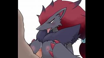 Pokemon breasts Zoroark titty fuck