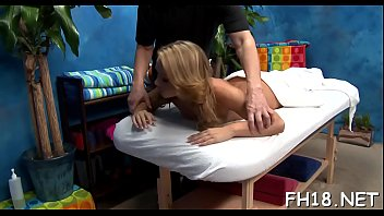 Very hot 18 year old pretty gets fucked hard doggy position by her massage therapist
