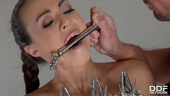 Naked girls chained up Submissive tiffany doll chained, dominated, analyzed