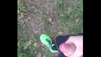 jerk off outdoors