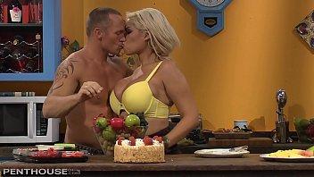 Busty Blonde Sex addict Bridgette B gets her Shaved Pussy Porked in the Kitchen pornhub video