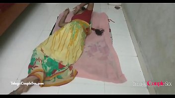hindi telugu village couple making love passionate hot sex on the floor in saree thumbnail