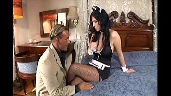 Lingerie and costumes Maid fucking in her uniform and fishnet stockings