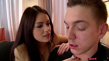 Loads of cum on Ava Dalush's delicious teen pussy leads to multiple orgasms