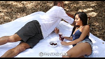 HD FantasyHD - Chloe Amour has a picnic then takes hard cock outdoors