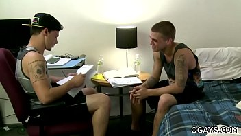 Gay porn college rooms - Handsome lads fucking in the dorm room