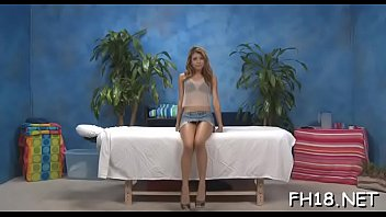 Sexy 18 year old babe gets drilled hard doggy style by her massage therapist