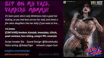 "Lady Dimitrescu - Sit on my face, Vampire Mommy! (18 EroAudio) <span class=""duration"">17 min</span>"