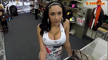 Big titty Latina gives head and pounded for some cash