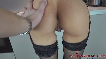 Perfect body babe Evilyn Jezebel wearing lingerie and high heels teasing for a big cock in her mouth and wet pussy till she squirts-WHORNY FILMS