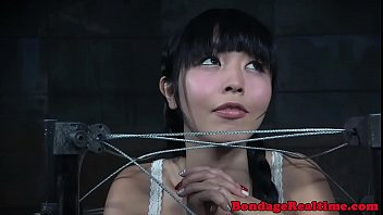 Dildo fucked asian slave drooling during bdsm 6分钟