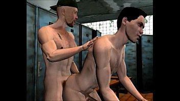 The gay world - The shower story: 3d gay cartoon comics