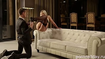 Young businessman ordered an elite slut