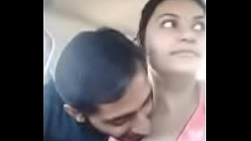 brother sister kissing in car and try to fuck her sister